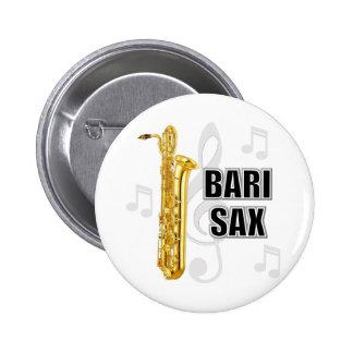 Botón del saxofón del barítono pin