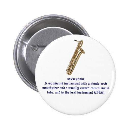 botón del saxofón pin