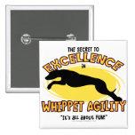 Botón del secreto de Whippet de la agilidad Pins