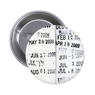 Botón del sello de fecha de la biblioteca pins