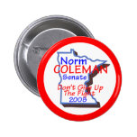 Botón del senado de Coleman Pin Redondo De 2 Pulgadas