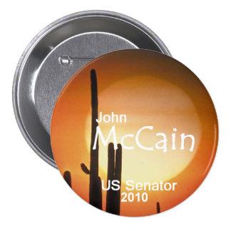 Botón del senado de McCain Arizona Pin Redondo De 3 Pulgadas