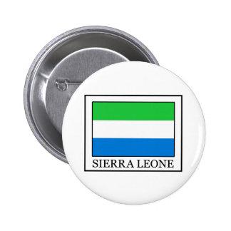 Botón del Sierra Leone Pin Redondo De 2 Pulgadas