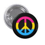 Botón del signo de la paz de la bandera de Pansexu