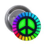 Botón del signo de la paz del arco iris pin