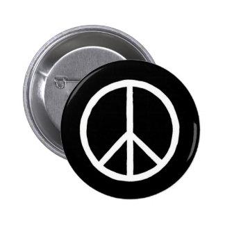 Botón del signo de la paz pin