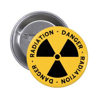 Botón del símbolo de la radiación pin