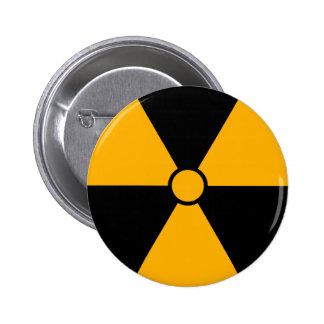 Botón del símbolo de la radiación