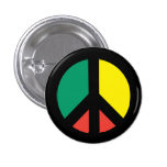 Botón del símbolo de paz de Rasta Pin