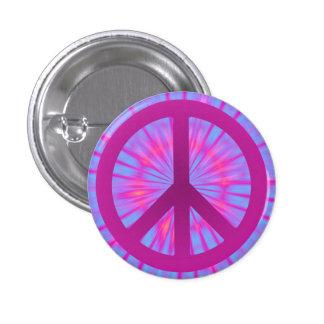 Botón del símbolo de paz del teñido anudado