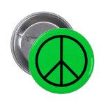 Botón del símbolo de paz pin