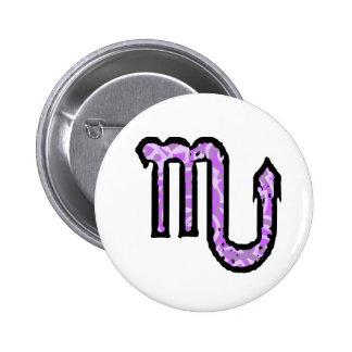 Botón del símbolo del escorpión estilo 1_purple pin