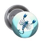 Botón del símbolo del escorpión pins