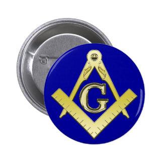 Botón del símbolo del Freemasonry Pins