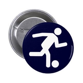 Botón del símbolo del fútbol del fútbol
