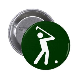 Botón del símbolo del golf pin