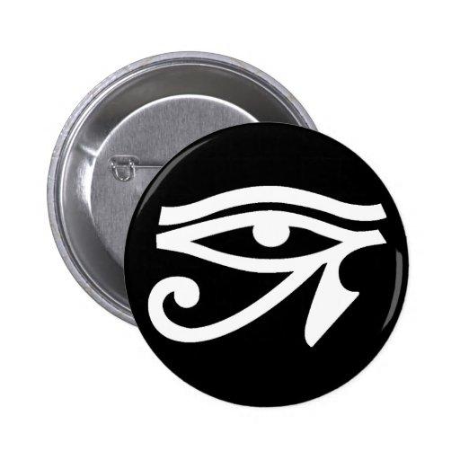 Botón del símbolo del ojo de Egipto antiguo Pin
