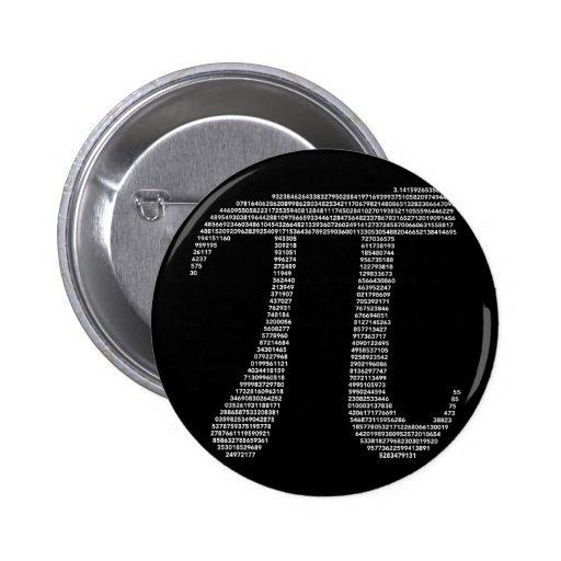 Botón del símbolo del pi pin redondo de 2 pulgadas