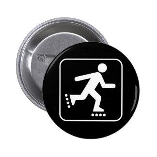 Botón del símbolo del Rollerblade Pin Redondo De 2 Pulgadas