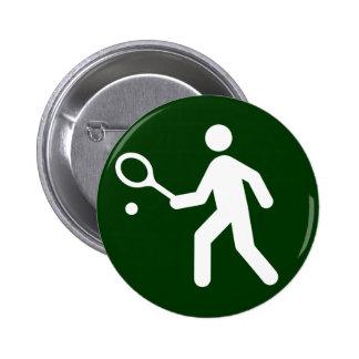 Botón del símbolo del tenis pins