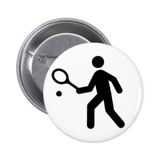 Botón del símbolo del tenis pin