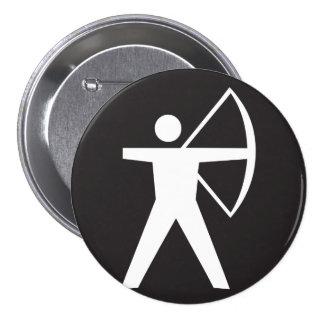 Botón del símbolo del tiro al arco pin redondo de 3 pulgadas