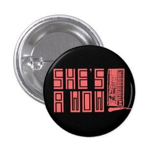 Botón del sintetizador/del codificador vocal pin redondo de 1 pulgada