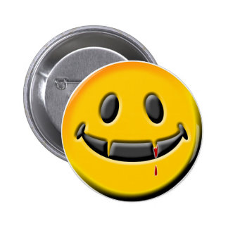 Botón del SMILEY del VAMPIRO Pins