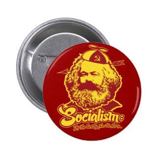 Botón del socialismo de Karl Marx Pin Redondo De 2 Pulgadas