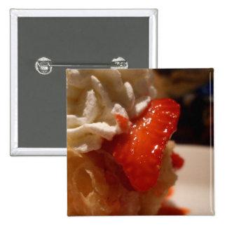 botón del soplo de la nata de la fresa pins