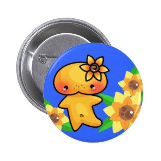 Botón del Sprite del girasol Pin Redondo De 2 Pulgadas