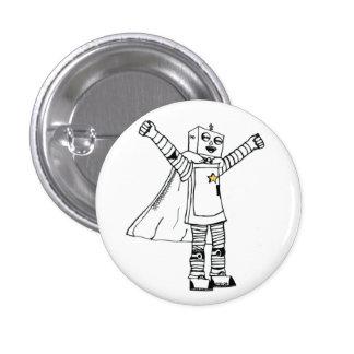 Botón del super héroe del robot de la estrella pin redondo de 1 pulgada