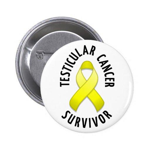 Botón del superviviente del cáncer testicular pin