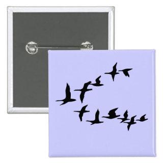 Botón del sur de los gansos del vuelo pin