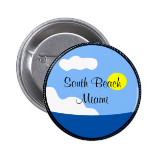 Botón del sur de Miami de la playa Pins