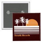 Botón del sur retro de la playa pins