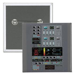 Botón del tablero de control del transbordador pin cuadrado