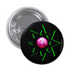 Botón del talismán del mal de ojo - símbolo oculto pin