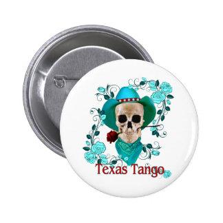 Botón del tango de Tejas Pin Redondo De 2 Pulgadas