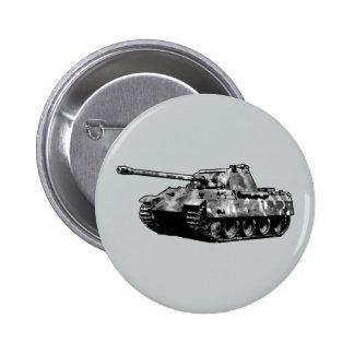 Botón del tanque de la pantera pin redondo de 2 pulgadas