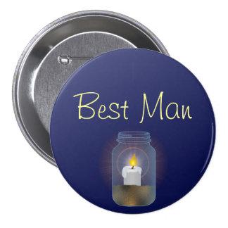 Botón del tarro de albañil de la vela pin redondo de 3 pulgadas