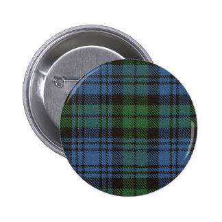 Botón del tartán de Campbell del clan Pin Redondo De 2 Pulgadas