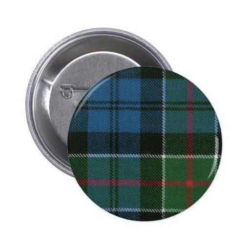Botón del tartán de Colquhoun del clan Pins