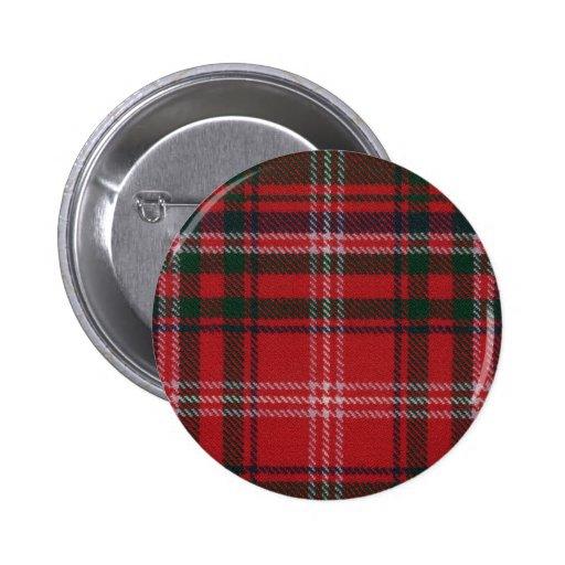 Botón del tartán de MacDougall del clan Pin Redondo De 2 Pulgadas