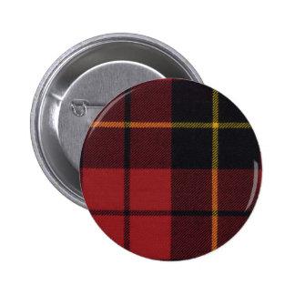 Botón del tartán de Wallace del clan Pin Redondo De 2 Pulgadas