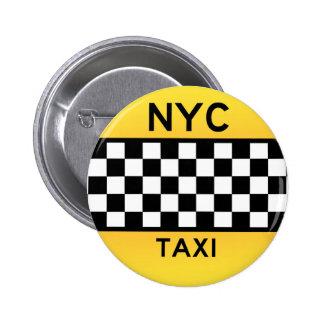 Botón del TAXI de NYC Pin Redondo De 2 Pulgadas