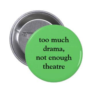 Botón del teatro y del drama pin redondo de 2 pulgadas
