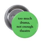 Botón del teatro y del drama pins