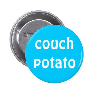 """Botón del """"teleadicto"""" pin redondo de 2 pulgadas"""