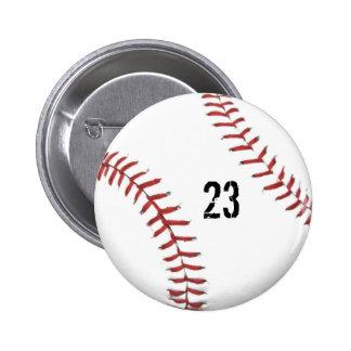 Botón del tema del béisbol pin redondo de 2 pulgadas